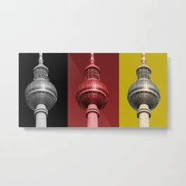 Berlin TV Tower Flag Metal Print