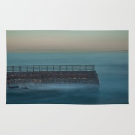 Seawall at Children's Pool Early in the Morning, La Jolla California Rug