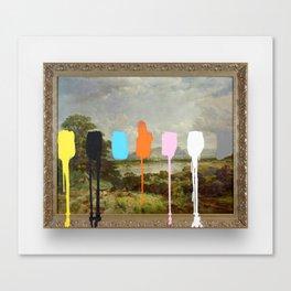 Thrift Store Landscape with a Color Test Canvas Print
