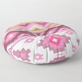 Modern Boho Aztec – Mulberry Pink and Plum Violet Floor Pillow