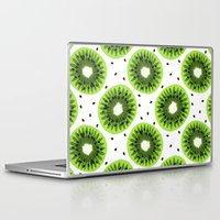 kiwi Laptop & iPad Skins featuring Kiwi by beach please