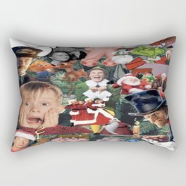 christmas movies collage Rectangular Pillow