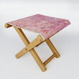 N45 - Pink Vintage Traditional Moroccan Boho & Farmhouse Style Artwork. Folding Stool
