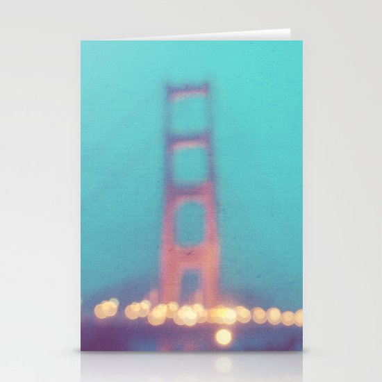 la nuit. San Francisco Golden Gate Bridge photograph Stationery Cards