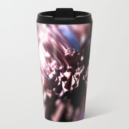 Abstract flower nature design intricate pattern texture background Travel Mug