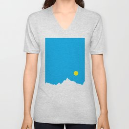 Mountain Sky Day Unisex V-Neck