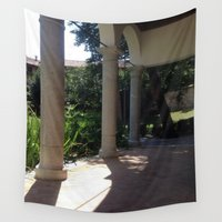 renaissance Wall Tapestries featuring Italy In A View: A Renaissance Loggia by AnnaF31