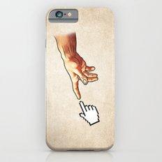 Funny 8bit Nerd & Geek Humor (Creation of Adam Parody) iPhone 6s Slim Case