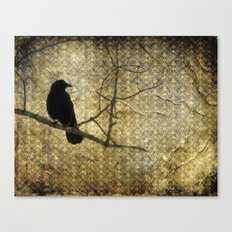 Crow Of Damask Canvas Print