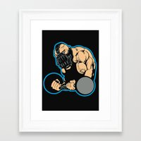 bane Framed Art Prints featuring B gym 2 by Buby87