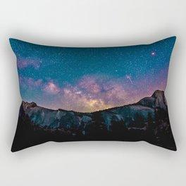 Milky Way Mountains Deep Pastel Rectangular Pillow