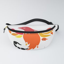 Phoenix With Scorpion Tail Icon Fanny Pack