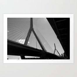 Zakim Bridge Boston Art Print