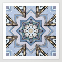 Blue star Art Print