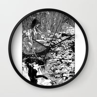 apollonia Wall Clocks featuring asc 534 - La Dame du lac (Viviane) by From Apollonia with Love