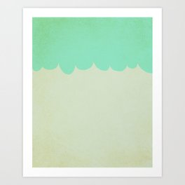 A Single Aqua Scallop Art Print