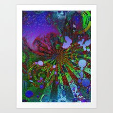 Colorfully Demented Art Print