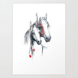 Indian Horses Art Print