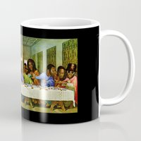 birdman Mugs featuring Last Supper by Amelia Jude