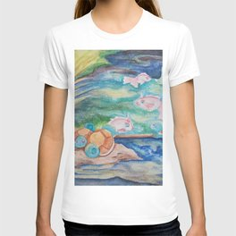 Pond With Squirtle And Goldeen T-shirt