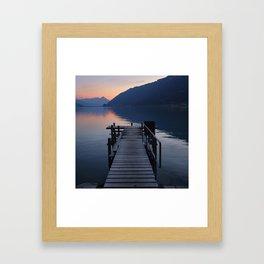 Brienz Lake At Sunset. Alps. Switzerland. Square Framed Art Print