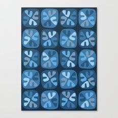 blue boomerangs Canvas Print