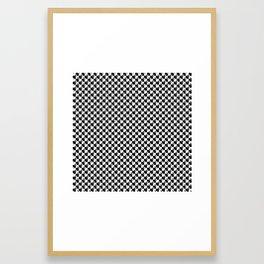 Black and White Check Interlockng Weimaraner Framed Art Print