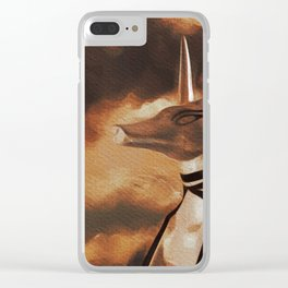 Anubis God of Egypt Clear iPhone Case