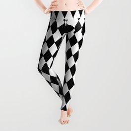Black & White Diamond Pattern Leggings