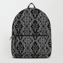 Gray Ikat Backpack