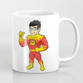 Super hero fireman cartoon Coffee Mug