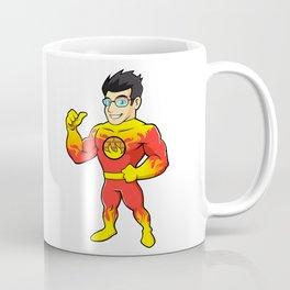 Super hero fireman cartoon Coffee Mug