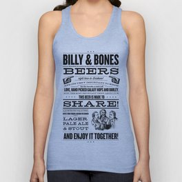 Billy & Bones Hand Crafted Beer Unisex Tank Top