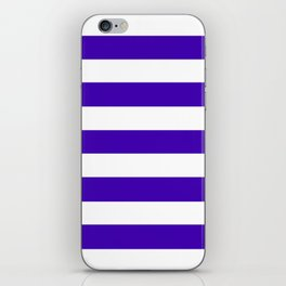 Yahoo Purple - solid color - white stripes pattern iPhone Skin
