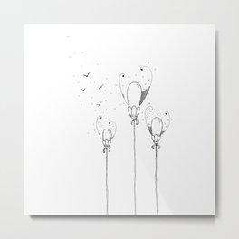 Balloon Flowers Illustration Metal Print