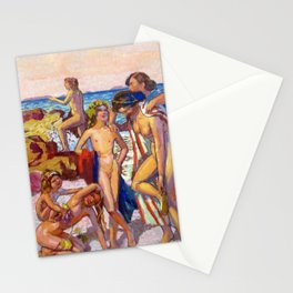 Maurice Denis  - Bacchus And Ariadne - Digital Remastered Edition Stationery Cards