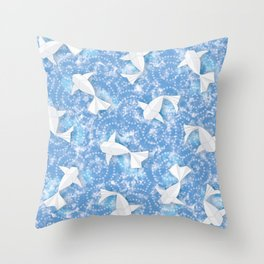 Origami Koi Fishes (Sky Pond Version) Throw Pillow