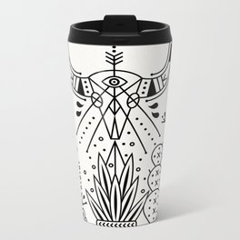 Santa Fe Garden – Black Ink Metal Travel Mug