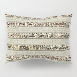 Bayeux Tapestry on cream - Full scenes and description Pillow Sham