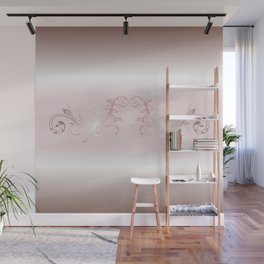 Dusky Pink Ornament Stripes Wall Mural