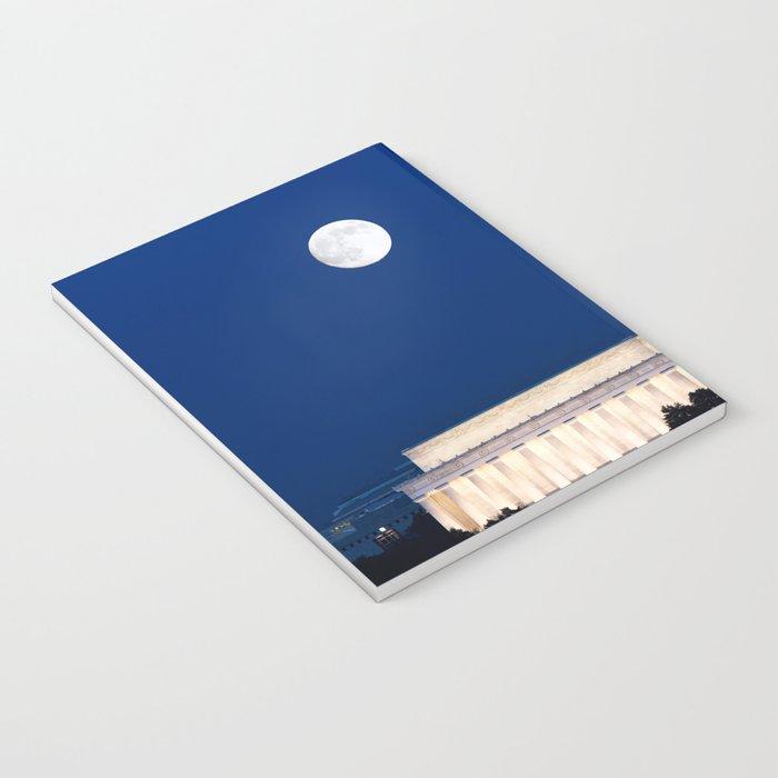 Harvest Moon rising over Washington DC Notebook