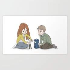 The Girl Who Waited, The Boy Who Waited, and Their Raggedy Doctor Art Print
