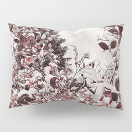 Fresh Snow On Red Leaves Pillow Sham