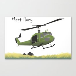 Huey Helicopter in Vietnam Canvas Print