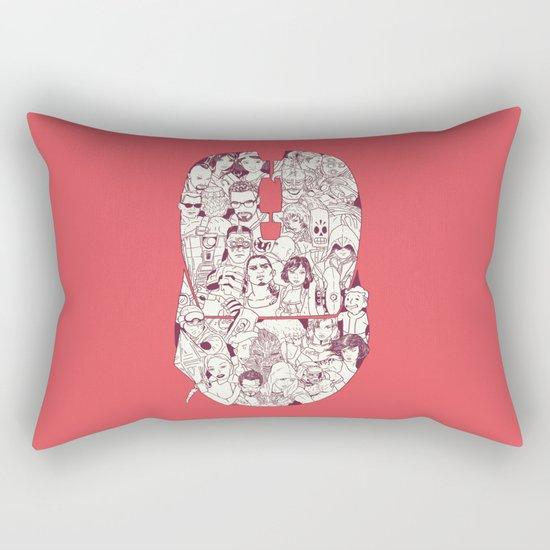 Adulthood Mash-Up Rectangular Pillow