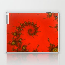 Red fractal. Abstract pattern Laptop & iPad Skin