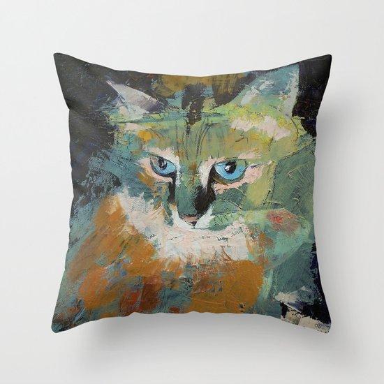 Himalayan Cat Throw Pillow