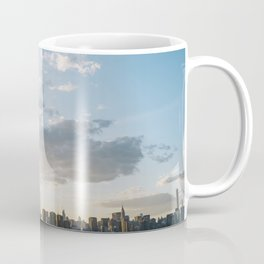 Sunset over East River skyline in New York City, USA - Travel Photography fine art wall print Coffee Mug