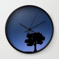 night sky Wall Clocks featuring Night Sky by Nate Raia
