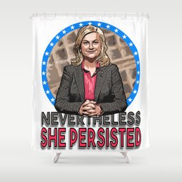NevertheLESLIE, She Persisted Shower Curtain